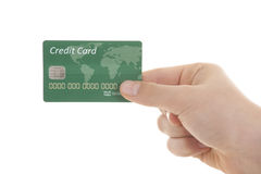 Hand with credit card Royalty Free Stock Photos