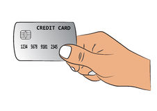 Hand with the credit card Stock Image