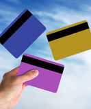 Hand and credit cards Stock Photography