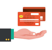 Hand with credit cards banking Royalty Free Stock Photography