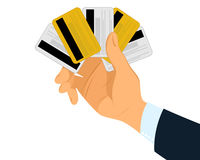 Hand with credit cards Royalty Free Stock Photography