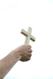Hand with cross Stock Photos
