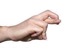 Hand with Crossed Fingers as Concept of Anticipation Royalty Free Stock Images