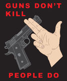 Hand crossing handgun. And anti-violence slogan stock illustration