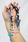 Hand with crucifix 2 Royalty Free Stock Photography