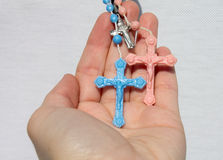 Hand with crucifix 3 Royalty Free Stock Photos