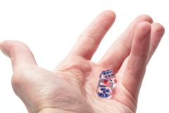 Hand with Cube Stock Image