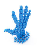Hand from cubes. 3d illustration isolated Stock Photo