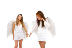 Hand Cuffed Angels royalty free stock image