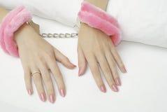 Hand cuffs Stock Photos