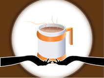 Hand and cup. Of tea  ,vector Stock Photos
