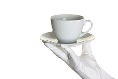 Hand and cup Royalty Free Stock Photo