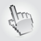 Hand cursor. 3D hand cursor pointing upwards Stock Photography