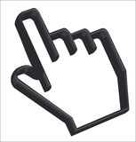 Hand Cursor - 3D Stock Image