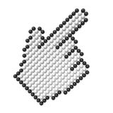 Hand cursor. (hires 3D image Royalty Free Stock Image