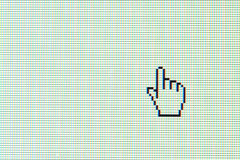 Hand cursor. On computer screen Royalty Free Stock Photo