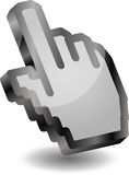 Hand, cursor, cursor main, Mouse pointers Stock Photography