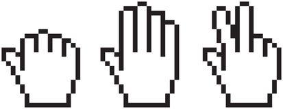 Hand cursor gaming set Royalty Free Stock Photos