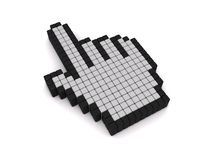 Hand cursor icon. 3D rendering of a hand cursor icon Royalty Free Stock Photography