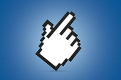 Hand Cursor Icon Standing Royalty Free Stock Image