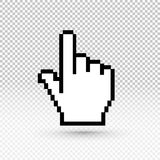Hand cursor Icon. Vector illustration EPS 10. Flat design. Isolated on transparent background Royalty Free Stock Photos
