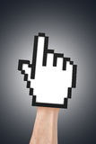 Hand Cursor on Real Human Royalty Free Stock Images