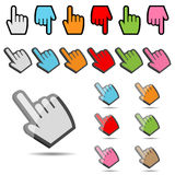 Hand cursor set stock photos