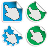 Hand Cursor Stickers Stock Image