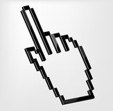 Hand Cursor vector illustration. This is file of EPS10 format Royalty Free Stock Images