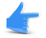 Hand cursor. On white background. 3d rendered image Stock Photos