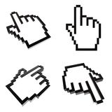 Hand cursors collection Stock Images