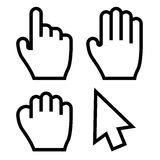 Hand Cursors Vector. Hand Cursors. This is file of EPS8 format Stock Photography