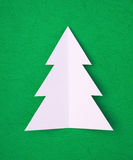 Hand cut christams tree Royalty Free Stock Photos