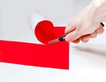 Hand cut paper Stock Photo
