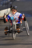 Hand Cycle Marathon Competitor Royalty Free Stock Images