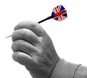 Hand with dart Royalty Free Stock Image
