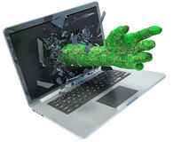 Hand data and laptop Stock Photography
