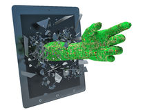 Hand data and tablet pc Royalty Free Stock Photography