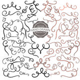 Hand dawn design element collection,vector illustration. Hand dawn design element collection,swirl,doodle,vector illustration Royalty Free Stock Photos