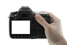 In hand de camera van de foto royalty-vrije stock foto