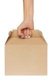 In hand de doos van het karton Royalty-vrije Stock Foto
