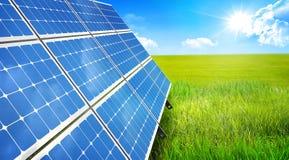 In hand de energie van de zon royalty-vrije stock foto