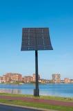 In hand de energie van de zon Stock Fotografie