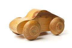 Hand - de gemaakte Houten Auto van het Stuk speelgoed Royalty-vrije Stock Afbeelding