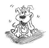 Hand - de gemaakte schets van het Puppy Royalty-vrije Stock Fotografie