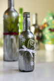 Hand decorated bottle Stock Images