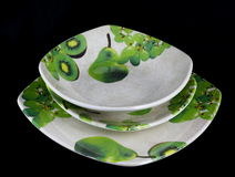 Hand decorated Porcelain plates Royalty Free Stock Photos