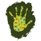 Hand decorated (vector) Stock Image