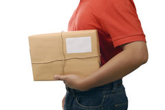 Hand Deliver A Package Stock Photo