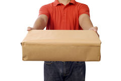 Hand Deliver A Package Royalty Free Stock Image